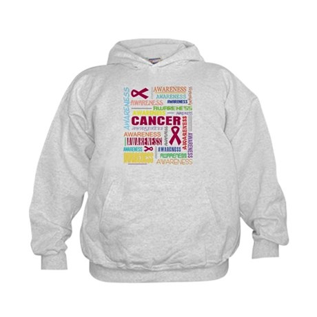 Multiple Myeloma Awareness Collage Kids Hoodie