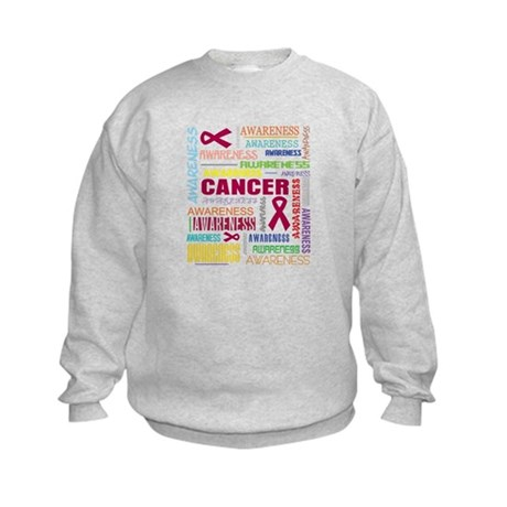 Multiple Myeloma Awareness Collage Kids Sweatshirt