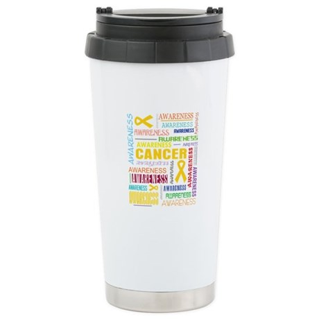 Neuroblastoma Awareness Collage Ceramic Travel Mug