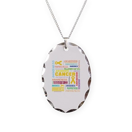 Neuroblastoma Awareness Collage Necklace Oval Char