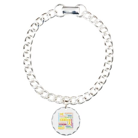Neuroblastoma Awareness Collage Charm Bracelet, On