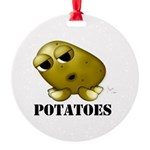 Potatoes Round Ornament