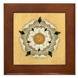 white-rose_b.jpg Framed Tile