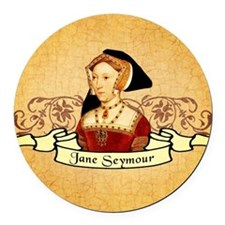 Jane Seymour Round Car Magnet