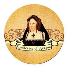Catherine Of Aragon Round Car Magnet