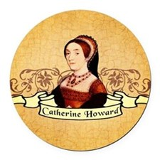 Catherine Howard Round Car Magnet