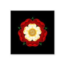 """Tudor Rose Square Sticker 3"""" x 3"""""""