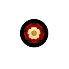 Tudor Rose Mini Button