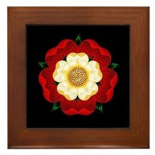 Tudor Rose Framed Tile