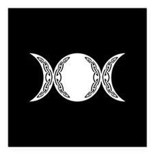 "Triple Goddess Moon Symbol Square Car Magnet 3"" x"