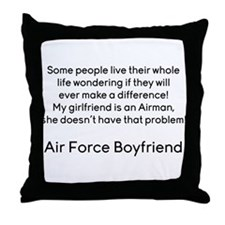 AF BF No Problem Throw Pillow