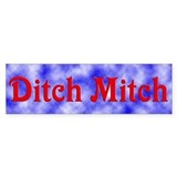 Ditch Mitch Bumper Car Sticker