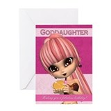 Goddaughter Trendy Birthday Girl Greeting Card