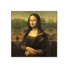 "Mona Lisa Square Sticker 3"" x 3"""