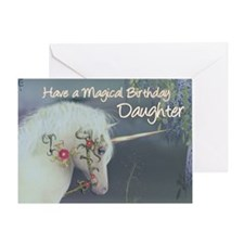 Daughter Birthday Card with Unicorn