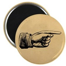 Old Fashioned Pointing Finger Magnet