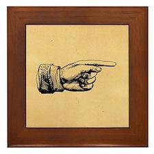 Old Fashioned Pointing Finger Framed Tile