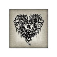 "Ornate Gothic Heart Square Sticker 3"" x 3"""