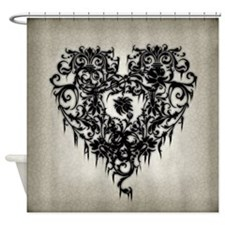 Ornate Gothic Heart Shower Curtain