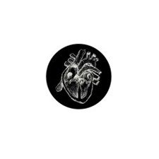 Human Heart Drawing Mini Button