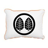 Two Japanese cedars in circle Rectangular Canvas P