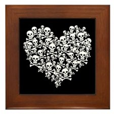 Skull Heart Framed Tile