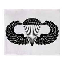 Airborne Stencil Throw Blanket