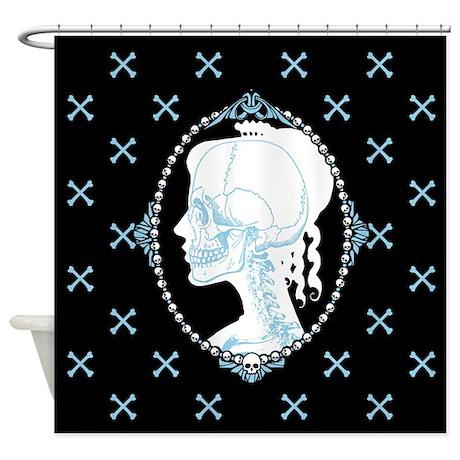 Skull Shower Curtains Custom Themed Skull Bath Curtains