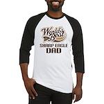 Sharp Eagle Dog Dad Baseball Jersey