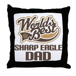 Sharp Eagle Dog Dad Throw Pillow