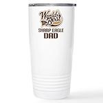 Sharp Eagle Dog Dad Ceramic Travel Mug