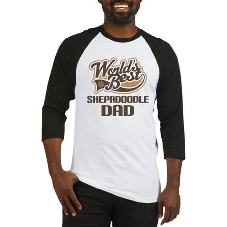 Shepadoodle Dog Dad Baseball Jersey