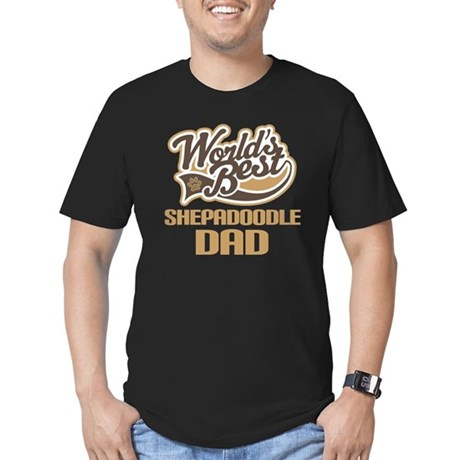 Shepadoodle Dog Dad Men's Fitted T-Shirt (dark)