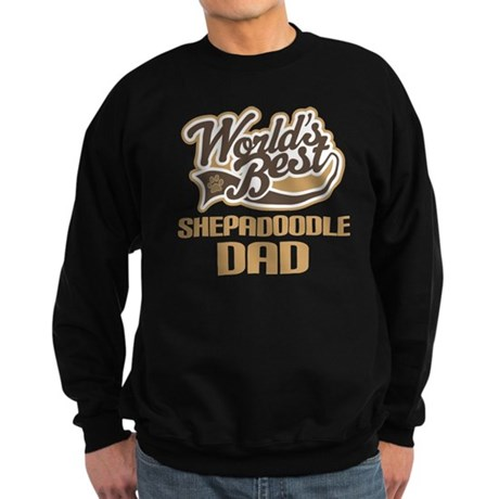 Shepadoodle Dog Dad Sweatshirt (dark)