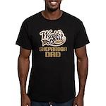 Sheprador Dog Dad Men's Fitted T-Shirt (dark)