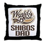 Shibos Dog Dad Throw Pillow