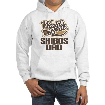 Shibos Dog Dad Hooded Sweatshirt