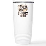 Shibos Dog Dad Ceramic Travel Mug