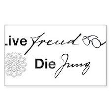 Live Freud, Die Jung Decal