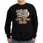 Shih Apso Dog Dad Sweatshirt (dark)