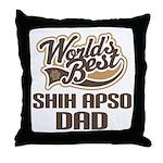 Shih Apso Dog Dad Throw Pillow