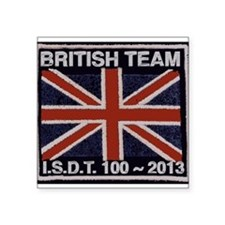 British Team ISDT badge replica 2013 Square Sticke