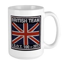 British Team ISDT badge replica 2013 Mug
