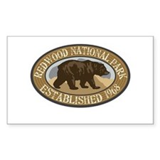 Redwood Brown Bear Badge Decal