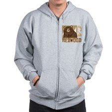 Redwood Grumpy Grizzly Zip Hoodie