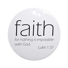 faith Ornament (Round)