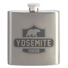 Yosemite Blue Nature Crest Flask
