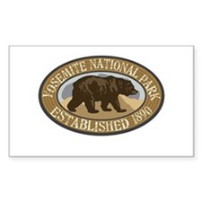 Yosemite Brown Bear Badge Decal