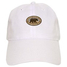 Yosemite Brown Bear Badge Baseball Cap