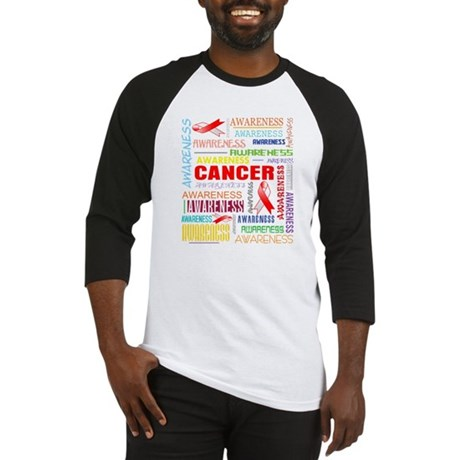 Oral Cancer Awareness Collage Baseball Jersey